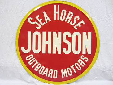 Johnson Sea Horse Outboard Motor Sign - B
