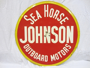 Johnson Sea Horse Outboard Motor Sign - D