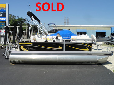 Used 2009 Qwest 7518 Sport Cruise Electric Pontoon Boat - SOLD