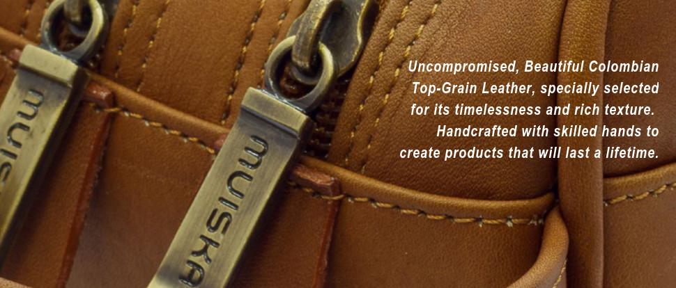 Beautiful Colombian Top-grain Leather