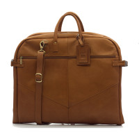 Rome - Lightweight Garment Bag - Front View, Saddle