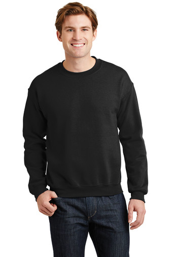 Black  Design printed on back Gildan •8-ounce, 50/50 cotton/poly pill-resistant air jet yarn Personalization on left Chest optional Name / number