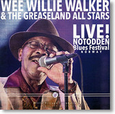 """Live! Notodden Blues Festival Norway"" blues CD by Wee Willie Walker"