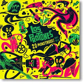 """""""20 Monstruos! 2007 to 2015"""" surf CD by Los Protones"""