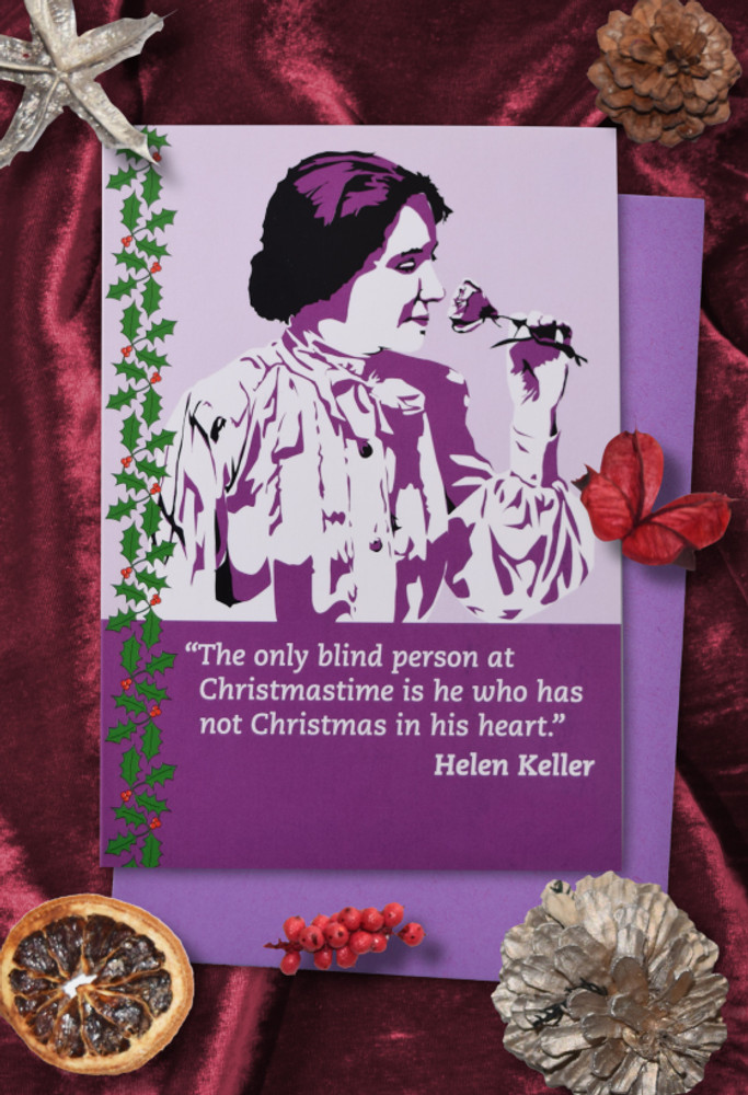 Radicals at Christmas: Helen Keller Christmas cards