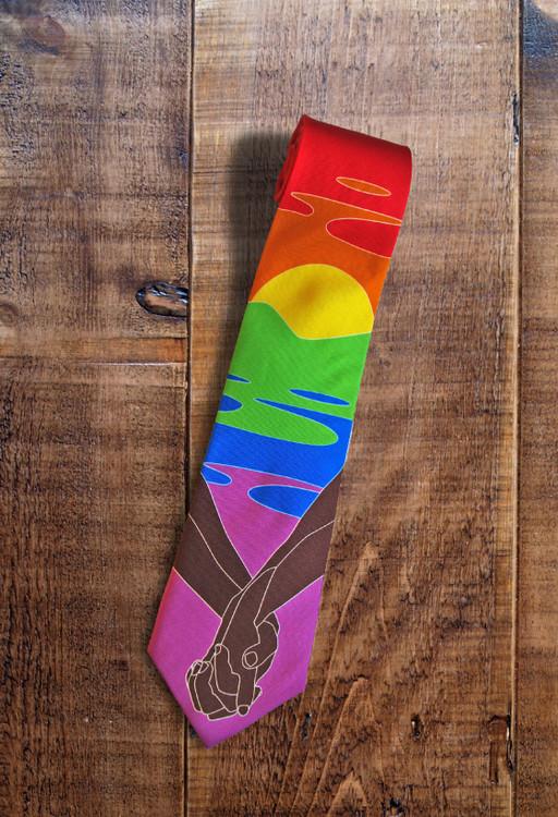LGBTQ handmade silk tie