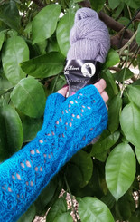 Royal Brocade Fingerless Gloves Pattern