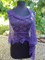 Heather -An Asymmetrical Lace Shawl
