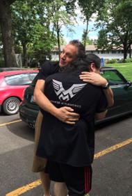 Hug from George