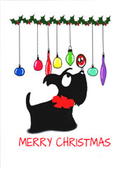 """Merry Christmas "" Scottie Card"