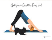 Scottie and Yoga Note Card