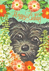 """Black Nose"" Scottie Birthday Card"