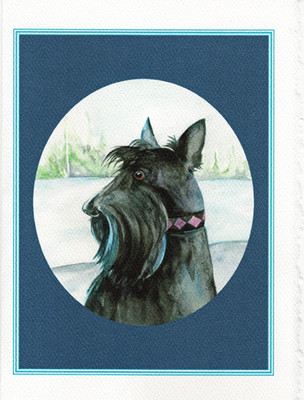 """""""Checking the View..."""" Scottie card from Kate Wood"""