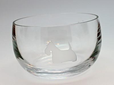 Clear Glass Scottie Bowl