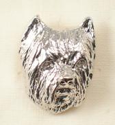 Westie Silver Face Pendant