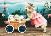 Westie Baby Pram Card