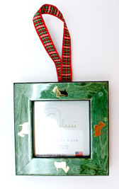 Green Frame with Gold Scotties