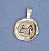 Pewter Scottie / Heart Seal