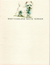 Westie Flat Note Cards