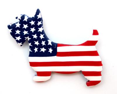 Patriotic Scottie Pin