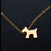 Gold Scottie Necklace