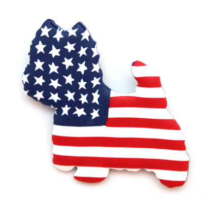 Westie Flag Pin