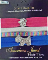 American Jewel Scottie Hair Ties