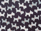 """""""Whiskers and Tails"""" Scottie Fabric in Black"""
