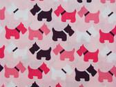 """Urban Zoologie"" Pink Scottie Fabric"