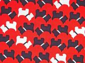 """Urban Zoologie"" Red Scottie Fabric"