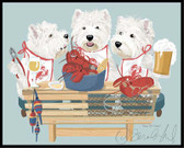 """Paws for Claws"" Westie Lobster Feast"