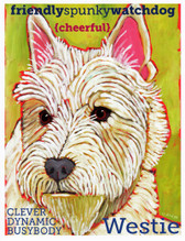Colorful Westie Card