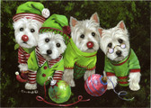 """Santa's Assistants"" Westie Card"