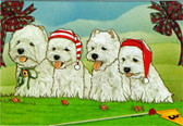 Four Westies on a Golf Course Card