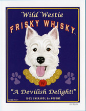 """Wild Westie Frisky Whiskey"" Card"