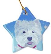 Sara England Westie Star Ornament