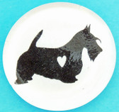 Glass Scottie Button Magnet