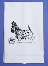 """Crisp Cotton """"Sir Scottie"""" Guest Towel"""
