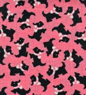 Pink Aunt Grace's Keepsake Scottie Fabric