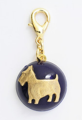 Maximal Art Navy Blue Scottie Charm