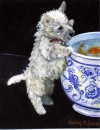 Westie Puppy and Fish Bowl Card