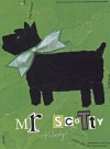 Green Collage Scottie Blank Card