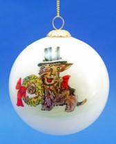 Rakish Scottie with a Top Hat Ornament