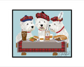 Westie Party Print by Sara England