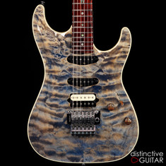 Suhr Standard Carve Top Custom Trans Blue Denim / Slate 29384