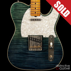 Palir Titan Flame Top Tele Blue / Green Fade