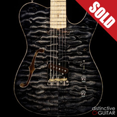 Fibenare Roadmaster Thinline NAMM 2016 Showpiece Black Burst Quilt