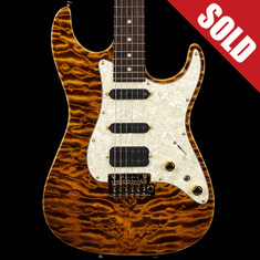 Tom Anderson Drop Top Classic Quilt Top Tiger Eye