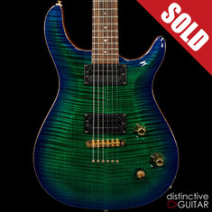 Kiesel Carvin CT6 Custom Dragon Burst Flame Top