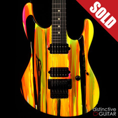 Suhr Modern 80s Shred Neon Drip Limited Run